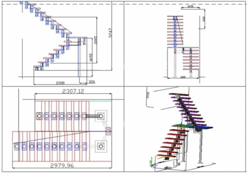 Лестница приставная из профильной трубы: этапы изготовления