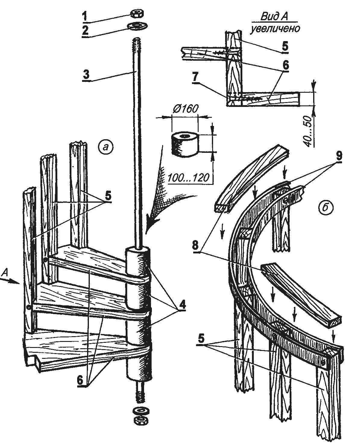 Изготовление своими руками винтовой лестницы - moy-instrument.ru - обзор инструмента и техники