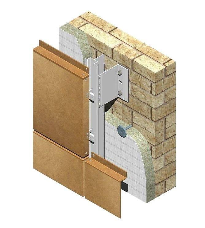 Подсистема для вентилируемого фасада - лучшие фасады частных домов