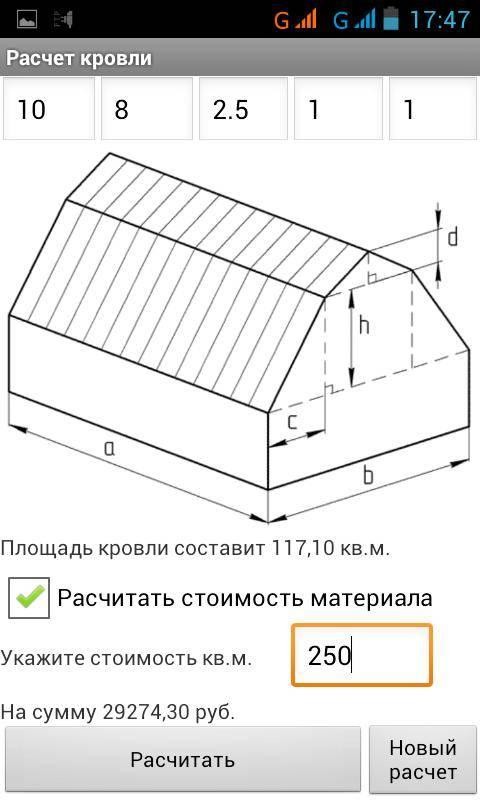 Как посчитать площадь кровли четырехскатной крыши - клуб мастеров