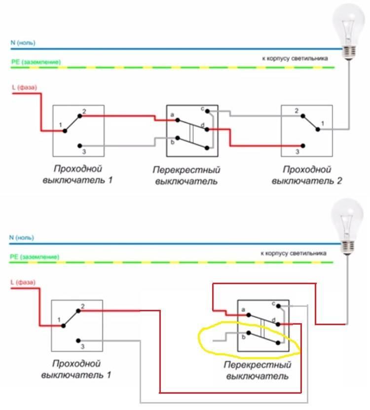 Как правильно подключить проходной выключатель: пошаговая инструкция и схема в блоге vira