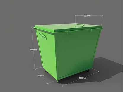 Объемы мусорных контейнеров по типу мусора: тбо, кгм