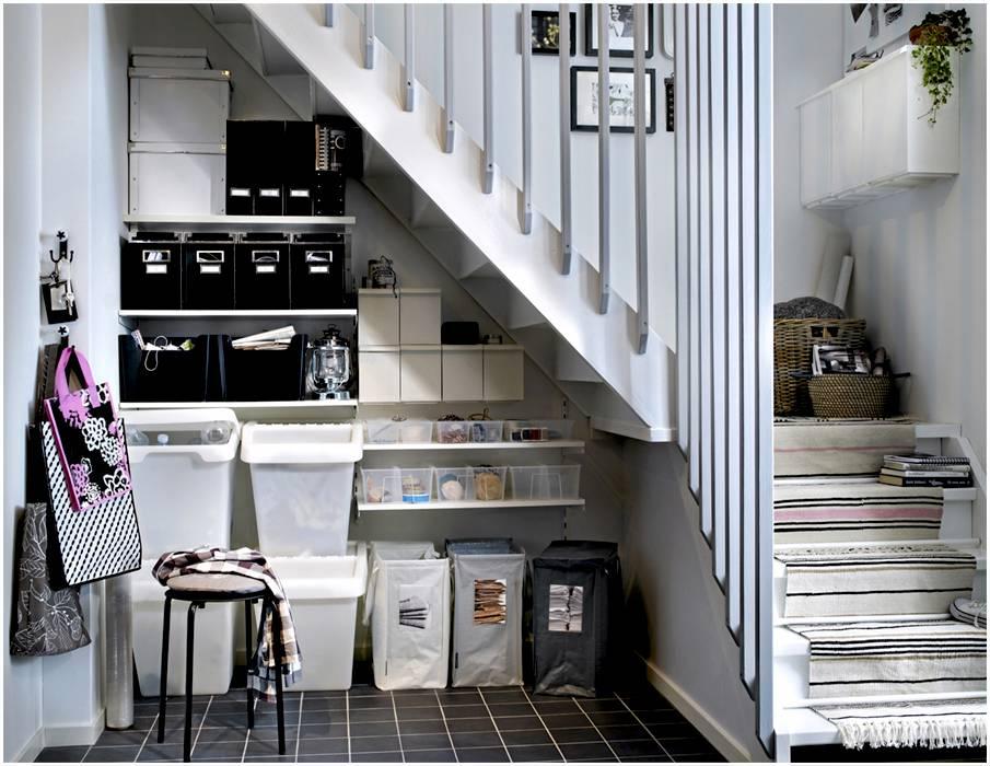 15 идей использования пространства под лестницей в доме на 2 этаж