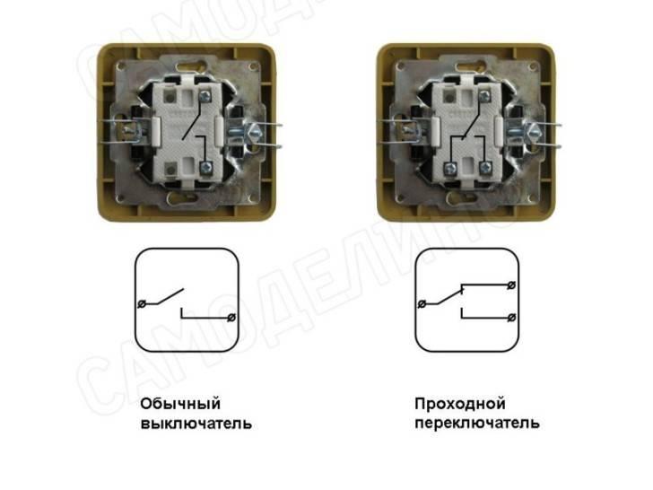 Одноклавишный выключатель: схема, устройство + фото