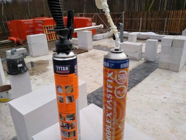 Пена для газобетона: кладка, особенности, отзывы