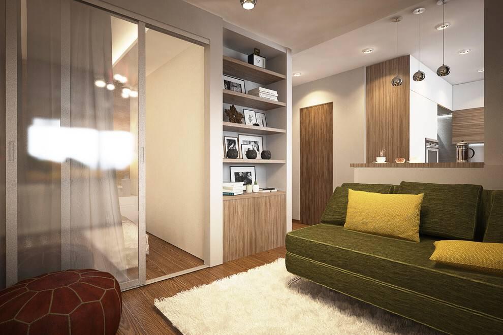 Дизайн проект однокомнатной квартиры: 5 готовых вариантов сфото