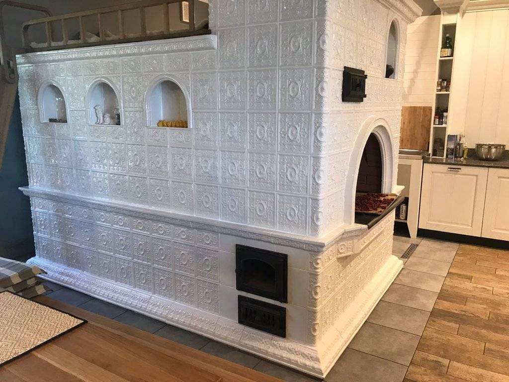 Облицовка печи керамической плиткой своими руками: технология укладки, пошаговая инструкция + фото