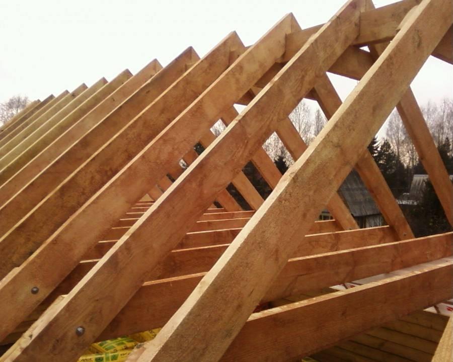 Установка стропил двухскатной крыши своими руками: крепление, изготовление