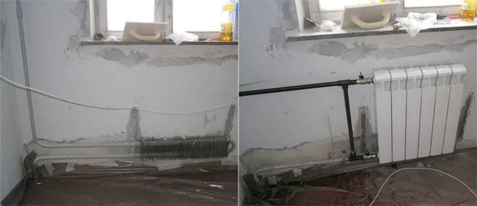 Замена чугунных батарей на биметаллические: демонтаж, установка и крепление чугунных радиаторов