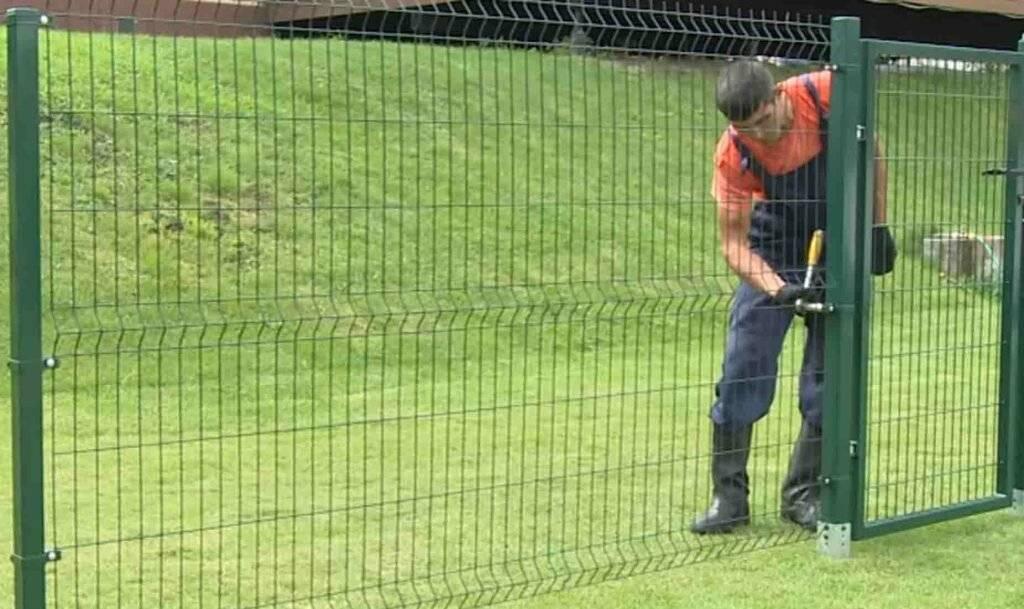 Забор из сетки рабицы своими руками (фото & видео) практичное ограждение +отзывы
