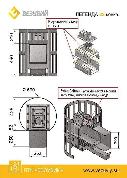 Печь чугунная для дома: варианты конструкций и правила установки