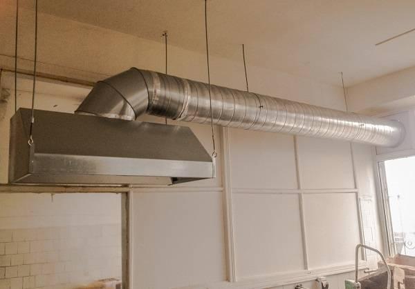 Устройство системы вентиляции в кафе и ресторане