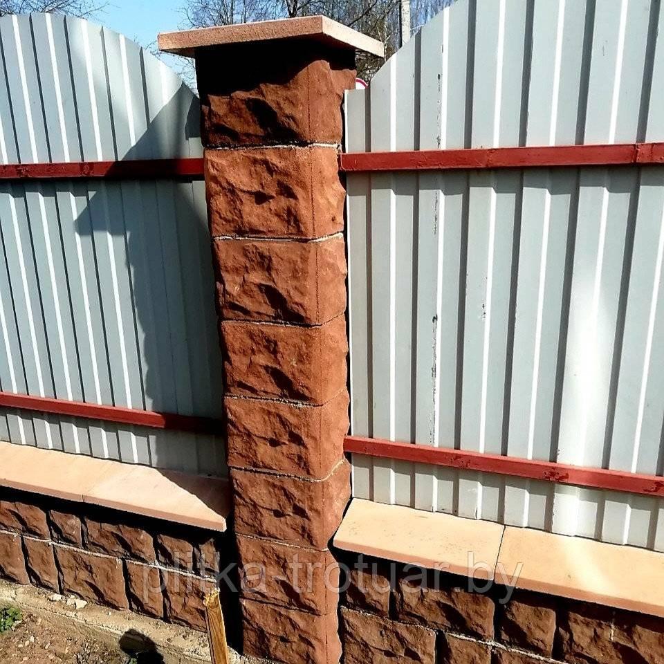 Кладка кирпичных столбов для забора – технология строительства