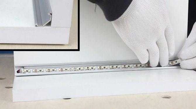 Как крепить светодиодную ленту к кухонному гарнитуру: пошагово