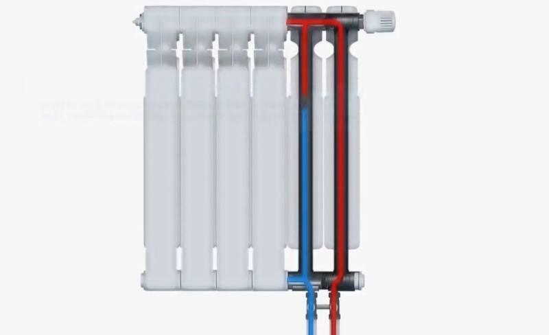 Подключение радиаторов с нижней подводкой