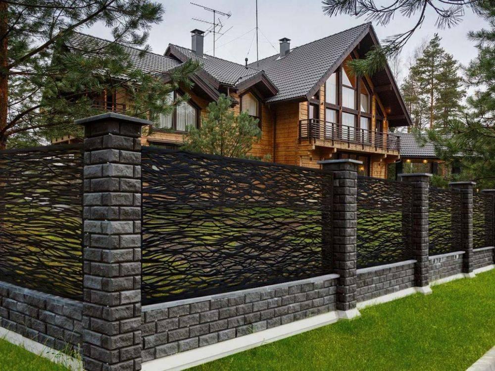 100 лучших идей: забор на дачном участке на фото