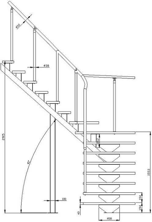 Лестница из профильной трубы своими руками: чертеж, расчет, фото