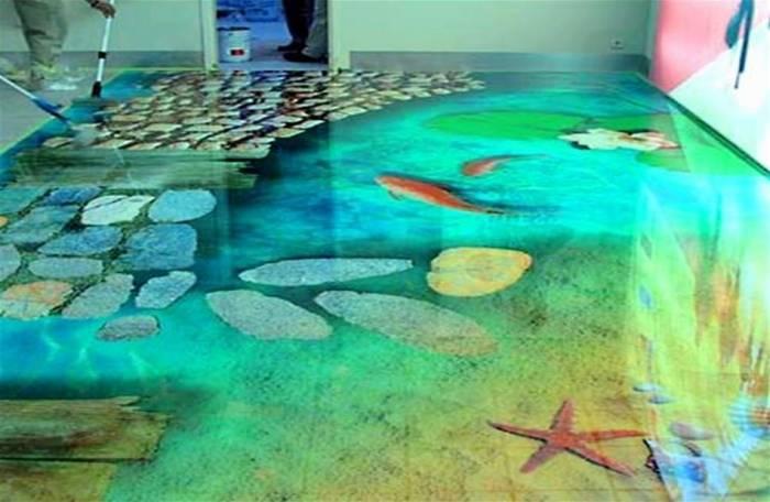 Наливные полы 3d своими руками за 6 этапов: обзор технологии работ