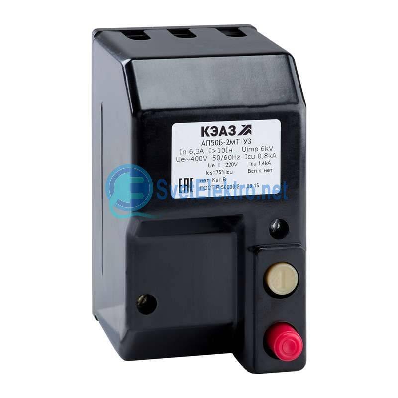 Описание и принцип работы автоматического выключателя ап-50