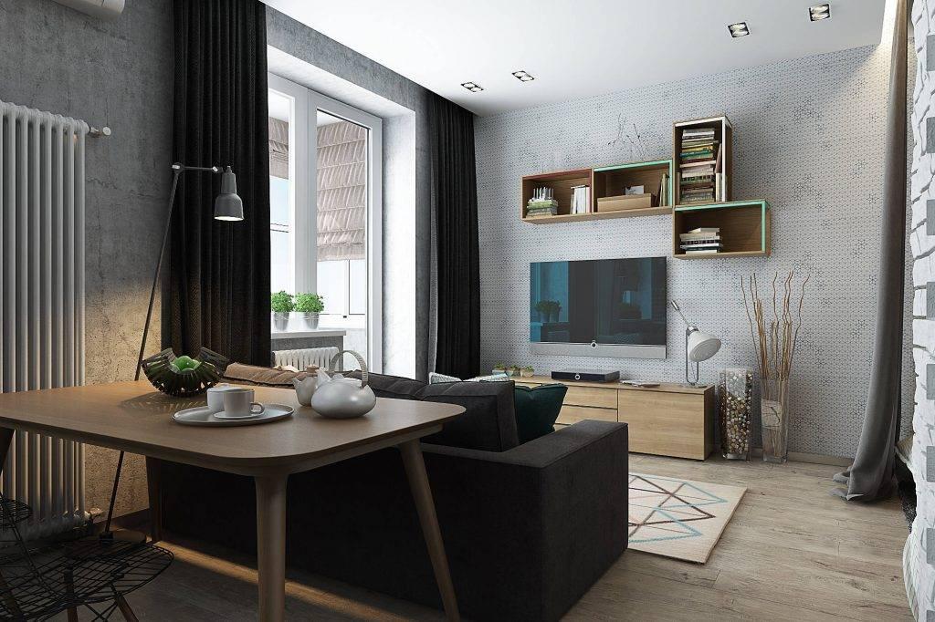 Дизайн однокомнатной квартиры 35м2, 36м2 90+ фото дизайн-проект 1 комнатной