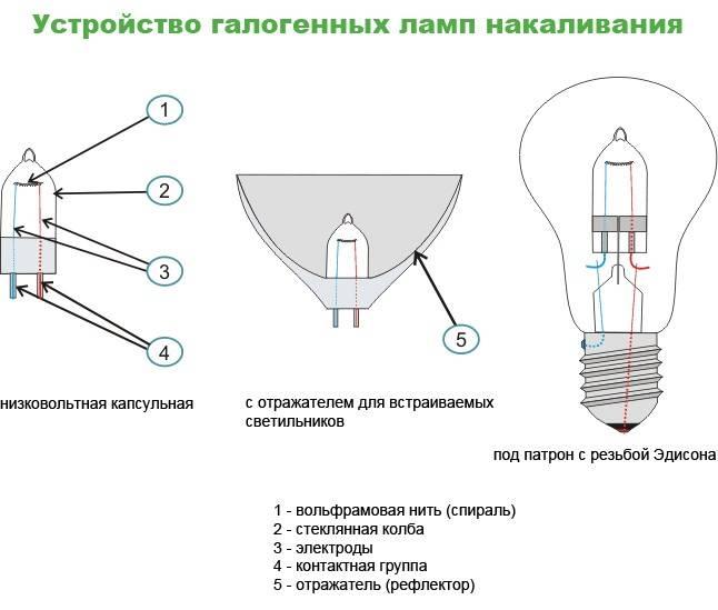 Виды и основные технические характеристики ламп накаливания