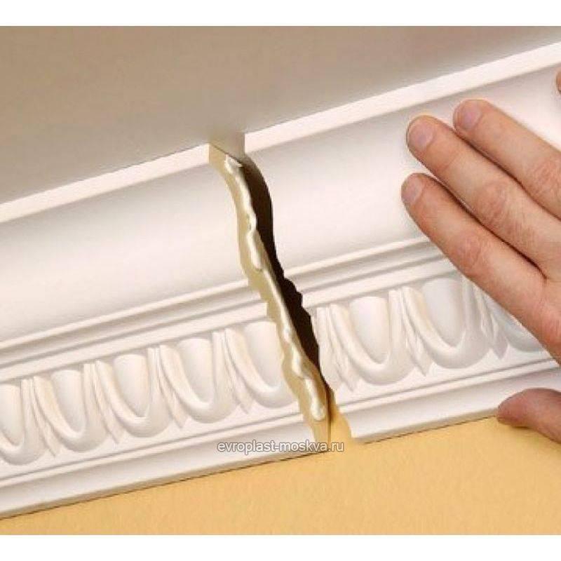 Покраска потолочного плинтуса - особенности