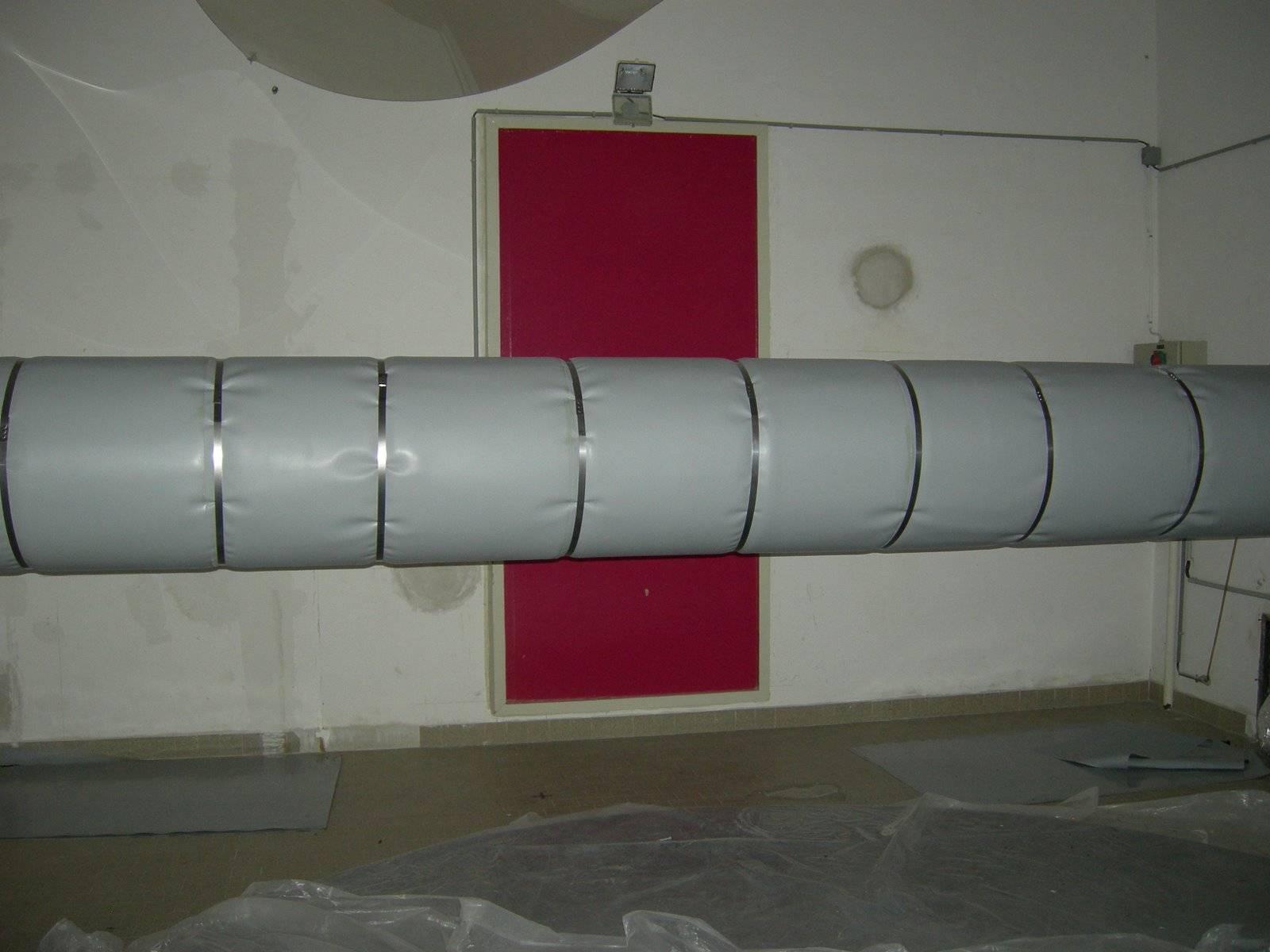 Теплоизоляция воздуховодов с самоклеющейся основой, расчет толщины материала, монтаж
