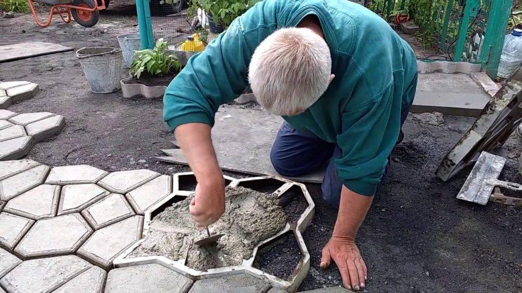 Брусчатка своими руками: изготовление, пошаговая инструкция, технология
