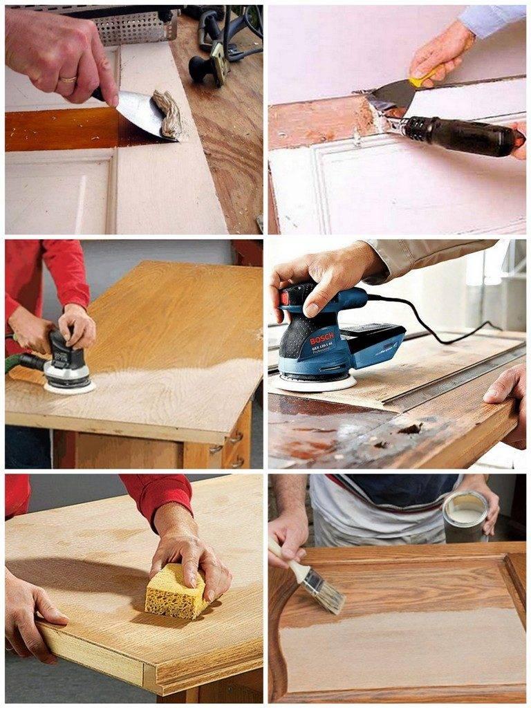 Покраска деревянных дверей: правила проведения лако-красочных работ своими руками