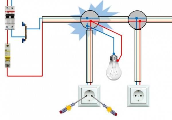 Нет тока в розетке что делать. две фазы в розетке: разбор причин
