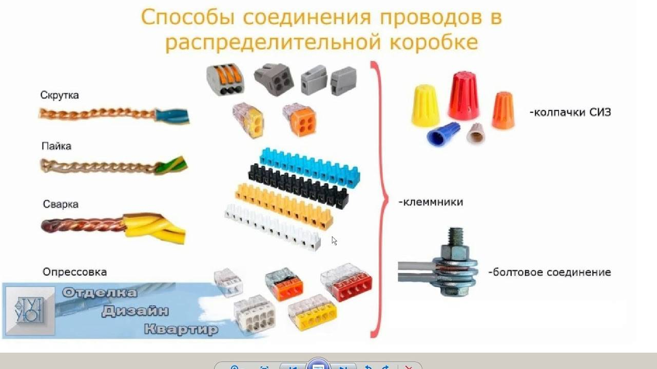 Как правильно соединить провода в распределительной коробке согласно ПУЭ