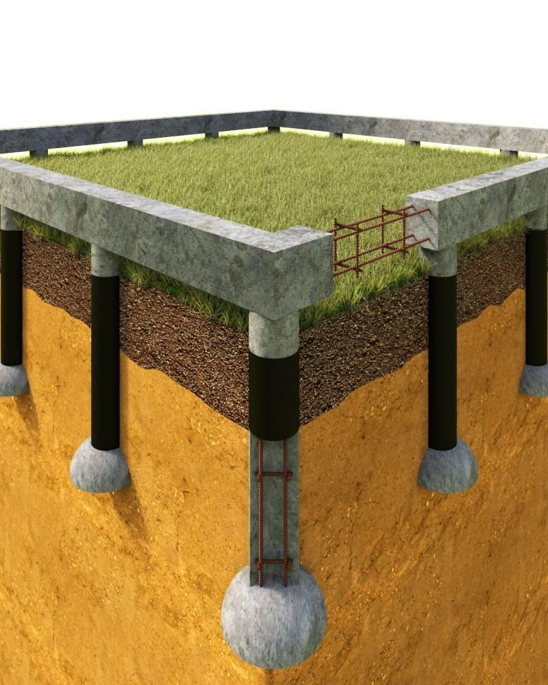 Свайно-ростверковый фундамент - плюсы и минусы ростверкового фундамента на сваях, устройство своими руками