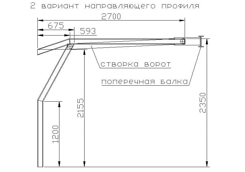 Секционные ворота своими руками: чертежи и устройство