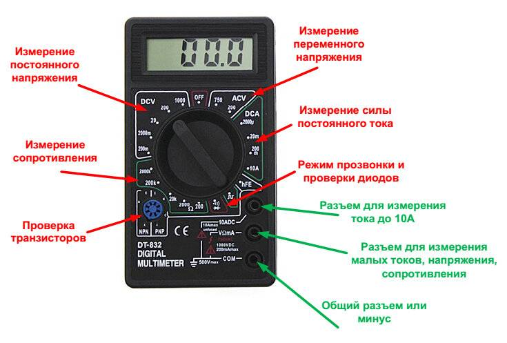 Как измерить силу тока мультиметром: используем инструкцию
