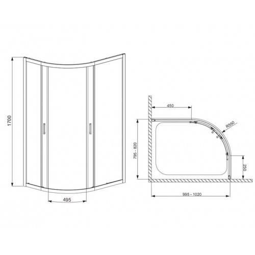 Размеры душевых кабин угловых - варианты и преимущества