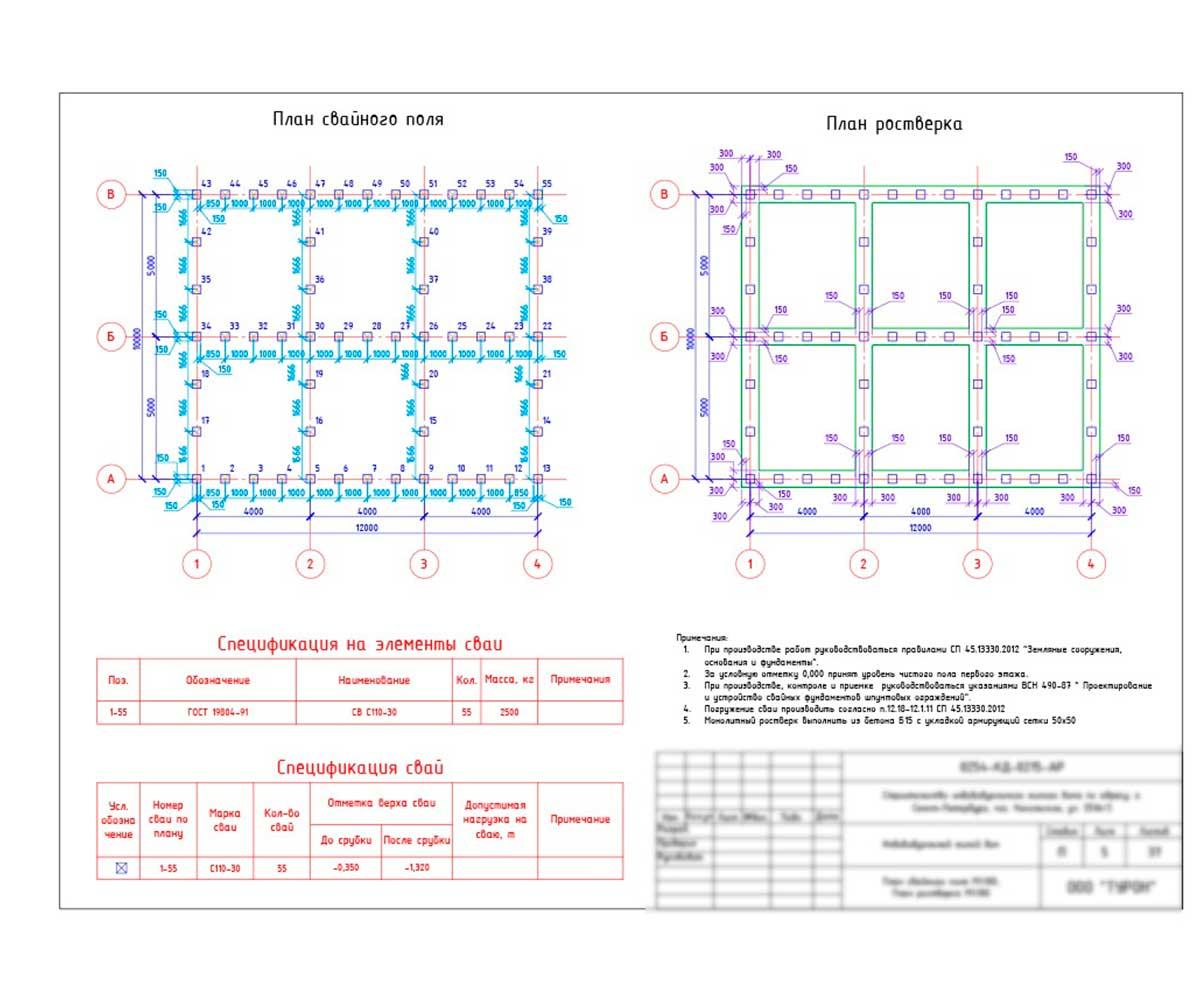 Свайный фундамент расчет количества свай: используем калькулятор