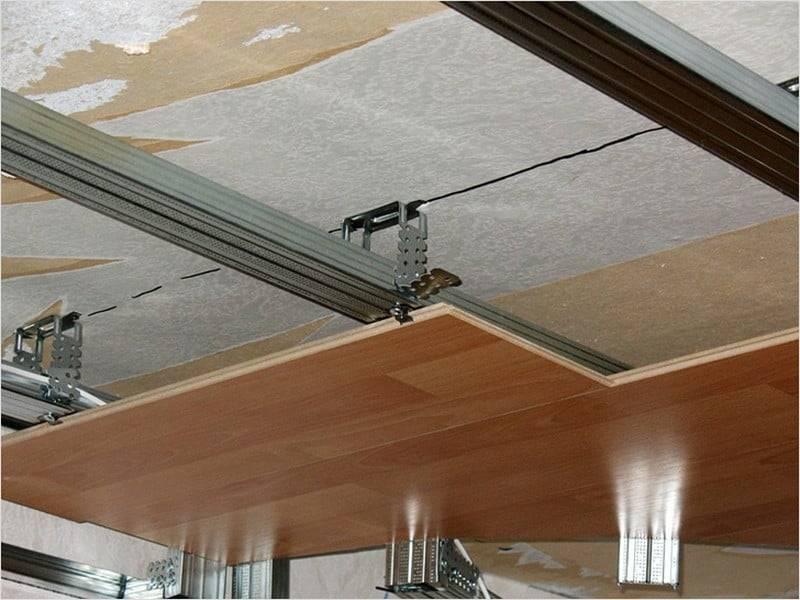 Потолок из ламината: как сделать своими руками   дом мечты