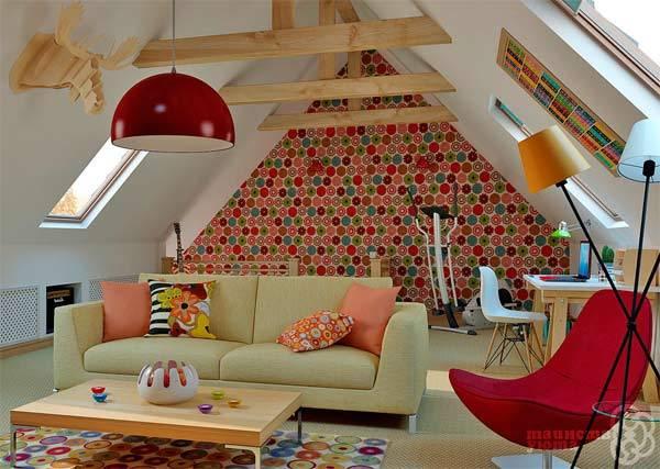 Потолок мансарды (53 фото): отделка гипсокартоном мансардного этажа и другие варианты дизайна, выбор потолочного плинтуса