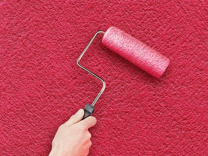 Нанесение фактурной краски: способы покраски стен в квартире своими руками, как покрасить валиком