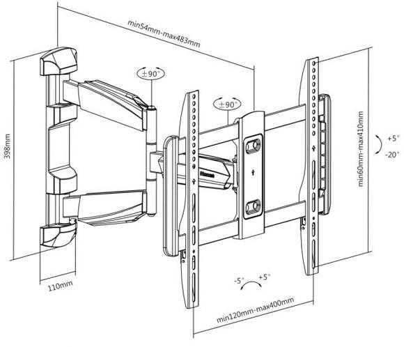 Как закрепить телевизор на стену: типы кронштейнов, способы монтажа, самостоятельное изготовление