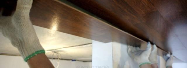 Потолок из ламината: как сделать своими руками