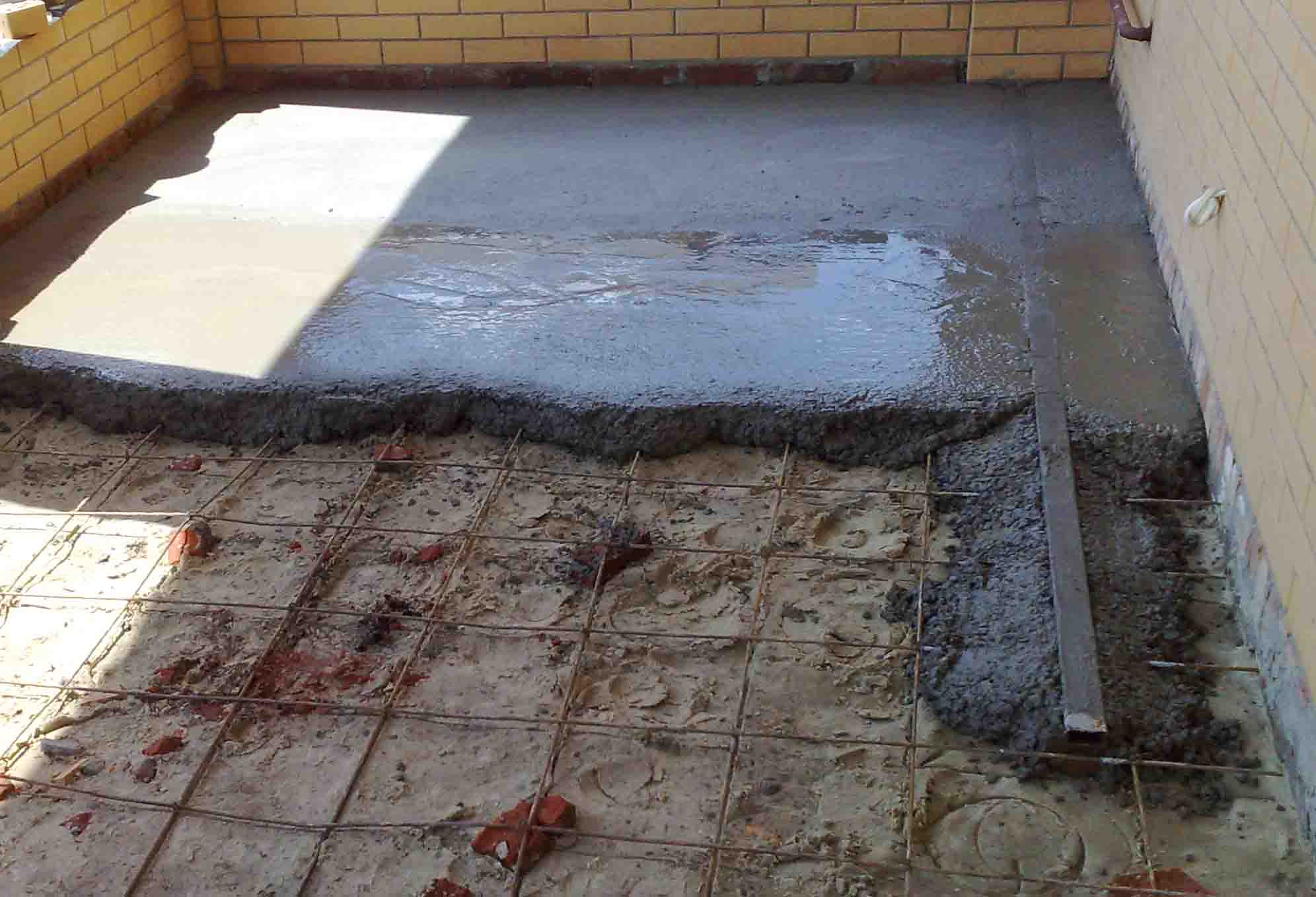 Технология заливки бетонного пола по грунту