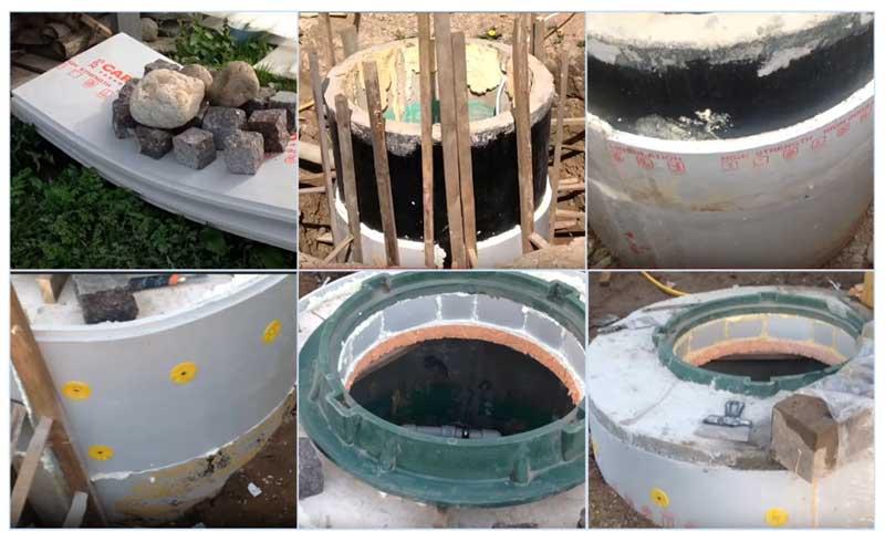 Утепление колодца: из бетонных колец пенополистиролом, пеноплексом, крышки, зимнего водопровода, отмостка, скорлупа, видео