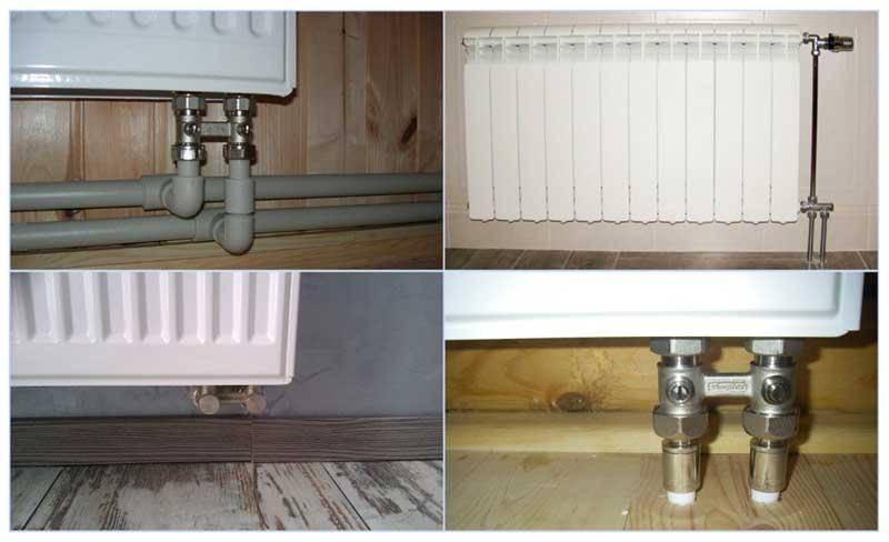 Радиаторы с нижним подключением: нижнее подключение его преимущества и особенности