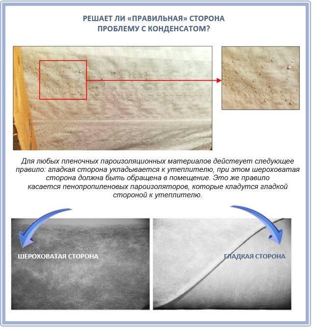 Пароизоляция - какой стороной укладывать к утеплителю: как класть после минваты, как правильно уложить, нужна ли при утеплении минватой