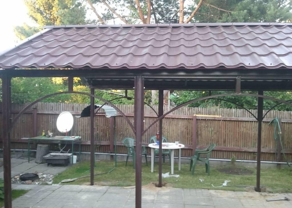 Крыша для беседки без лишних затрат