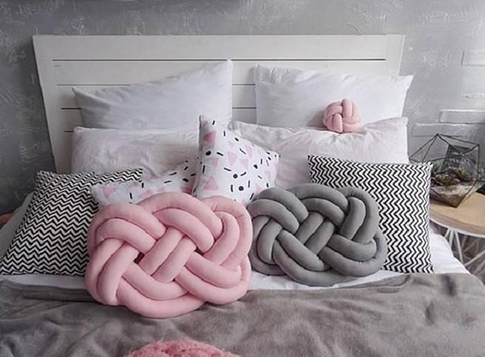 Подушка – узел: стильный предмет интерьера своими руками