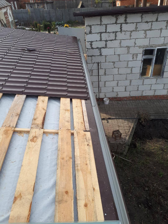 Односкатная крыша из профнастила: как покрыть своими руками, монтаж кровли, устройство, как сделать покрытие