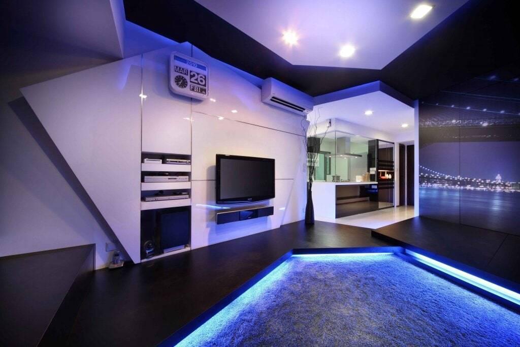 Освещение в квартире-студии  (37 фото): выбор осветительных приборов и варианты зонирования светом