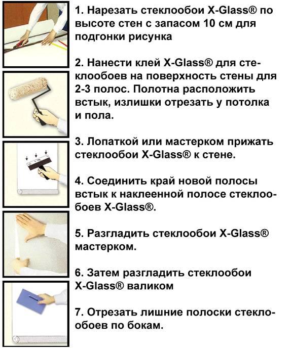 Как клеить стеклообои правильно: подготовка, поклейка, покраска